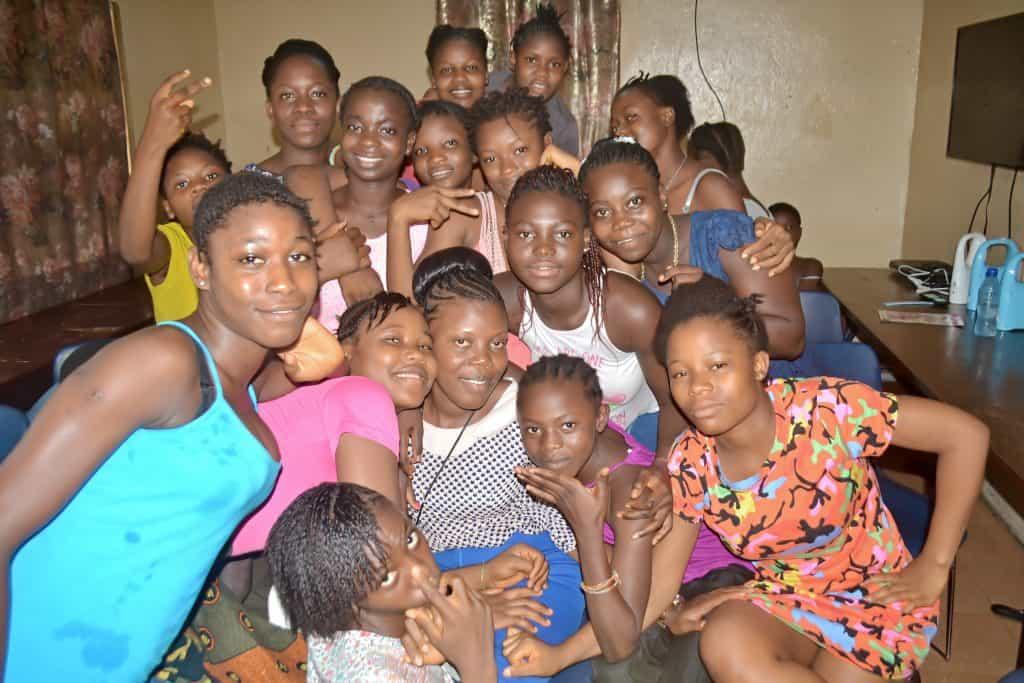 girls shelter plus group photo